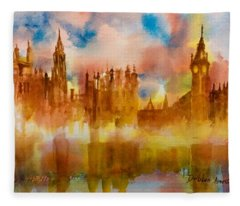 London Rising Fleece Blanket