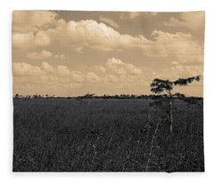 Lone Cypress II Fleece Blanket