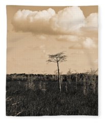 lone cypress III Fleece Blanket