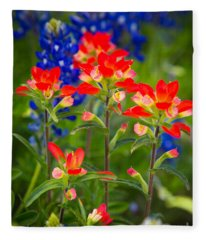 Lone Star Blooms Fleece Blanket