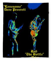 Lonesome Dave And Bottle Rod Fleece Blanket