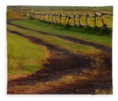 Long Dirt Road Fleece Blanket