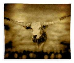 Longhorn Bull Fleece Blanket