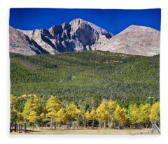 Longs Peak A Colorado Playground Fleece Blanket