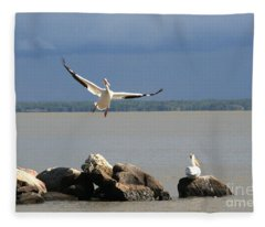 Look Ma - I Can Fly Fleece Blanket