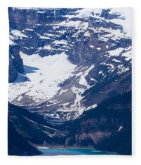Looking Down At Lake Louise #2 Fleece Blanket
