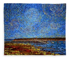 Looking East - St Andrews Wharf 2013 Fleece Blanket