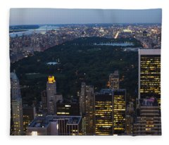 Looking From Top Of The Rock Fleece Blanket