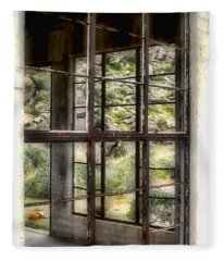 Looking Through The Window By Diana Sainz Fleece Blanket