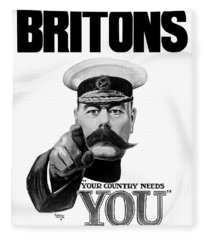 Lord Kitchener - Britons Your Country Needs You Fleece Blanket