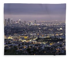Los Angeles At Night From The Griffith Park Observatory Fleece Blanket