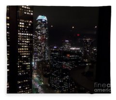 Los Angeles Nightscape Fleece Blanket