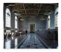 Los Angeles Union Station Original Ticket Lobby Fleece Blanket