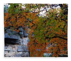 Fall Foliage At Lost Maples State Natural Area  Fleece Blanket
