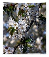 Lots Of Spring Flowers Fleece Blanket