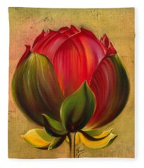Lotus Bulb Fleece Blanket