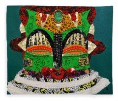 Lotus Warrior Fleece Blanket