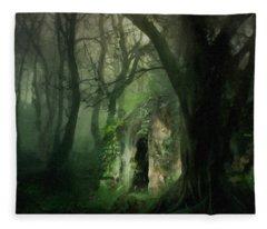 Love Affair With A Forest Fleece Blanket
