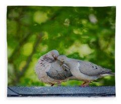 Love Doves  Fleece Blanket