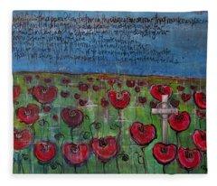 Love For Flanders Fields Poppies Fleece Blanket