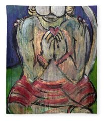 Love For Hanuman Fleece Blanket