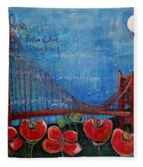 Love For San Francisco Fleece Blanket