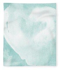 Love In Aqua Fleece Blanket