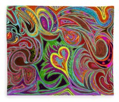 love in every shade of U v7 - love in every shade of blue Fleece Blanket