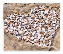 Love In The Sand Fleece Blanket