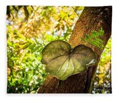 Love Leaf Fleece Blanket