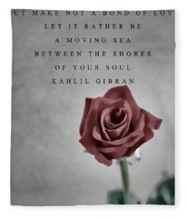 Love One Another Kahlil Gibran Fleece Blanket