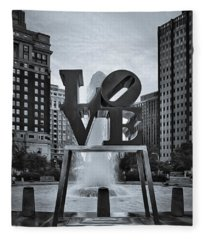 Love Park Bw Fleece Blanket