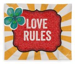 Love Rules Fleece Blanket