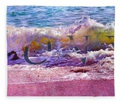 Love The Wave Fleece Blanket