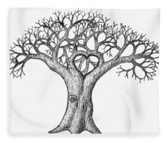 Love Tree Fleece Blanket
