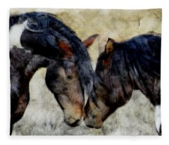 Love Will Keep Us Together - Painting Fleece Blanket
