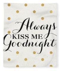 Love Words Black II Fleece Blanket