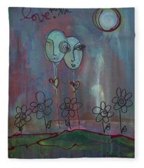 Love You Give Lollipops Fleece Blanket