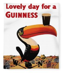 Lovely Day For A Guinness Fleece Blanket