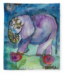 Lovely Little Elephant2 Fleece Blanket