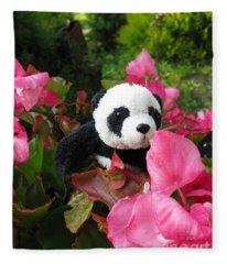 Lovely Pink Flower Fleece Blanket