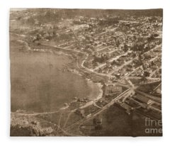 Aerial Of Lovers Point And Pacific Grove California July 10 1906 Fleece Blanket
