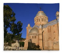 Low Angle View Of A Church, Notre Dame Fleece Blanket