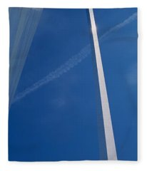 Low Angle View Of An Arched Structure Fleece Blanket