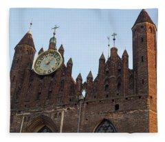 Low Angle View Of Clock On St. Marys Fleece Blanket