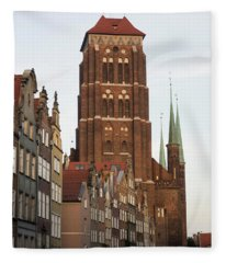 Low Angle View Of Tower Of St. Marys Fleece Blanket