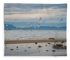 Herring Season  Fleece Blanket