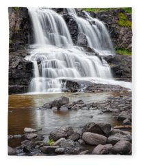 Lower Gooseberry Falls Fleece Blanket