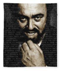 Luciano Pavarotti Fleece Blanket
