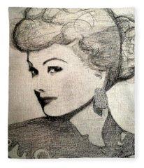Lucille Ball Fleece Blanket